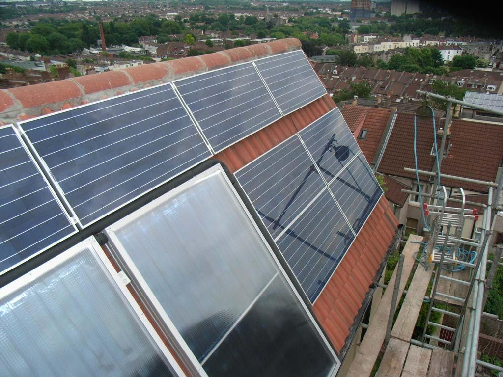 Our PV and solar thermal project for Alan Arnstein