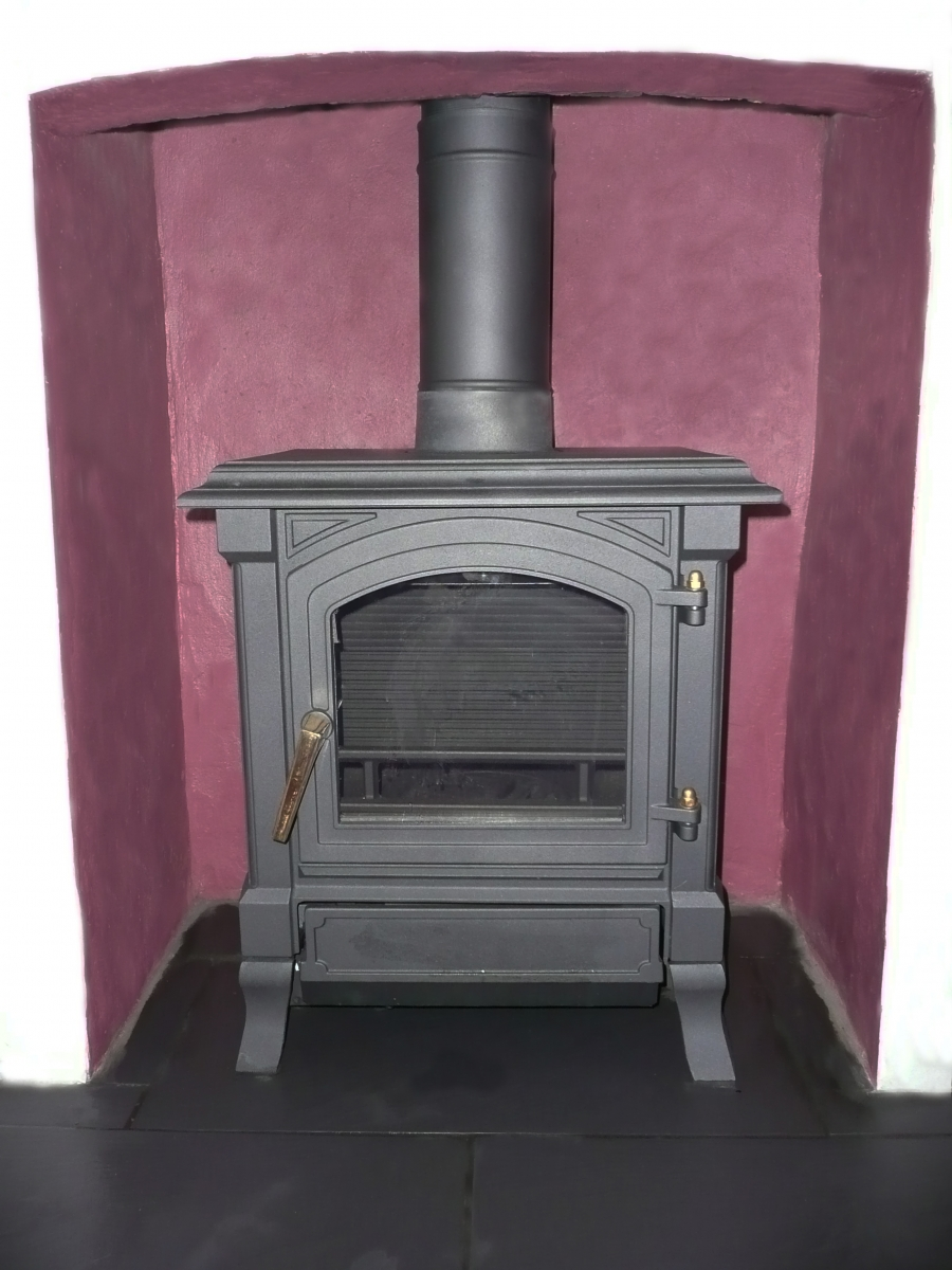 Our project for Frances Macfarlane installing a new stove