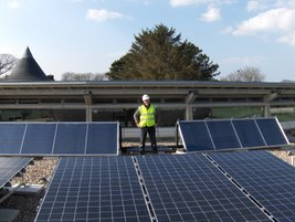 An example of a commercial solar installation