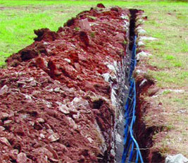 a ground loop being buried